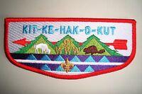 OA KIT-KE-HAK-O-KUT LODGE 97 MID-AMERICA COUNCIL SCOUT PATCH BEAVER GMY FLAP