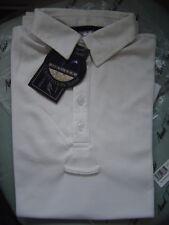 Mark Todd Mens riding shirt called Dryfit,  small,white, short sleeves, new/tags