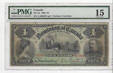 **1900**Canada $4,Var/Cou #A 005991  DC-16 PMG F-15