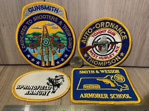 Embroidered Patches Springfield Armory Smith & Wesson Armorer Tommy Gun Gunsmith