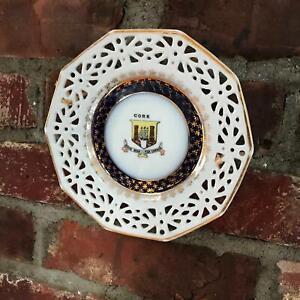 "6.5"" Vintage Collector Plate Cork Ireland double Castle Clipper Ship Plate"