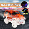 Magic Inductive Racetrack Car Track Toy LED Flashing Lights Up Glow in the