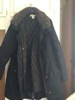H&M Woman's Navy Parka Jacket Size 8/10