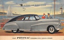 Pontiac Streamliner Sedan-Coupe For 1947 Advertising Pc ~ used
