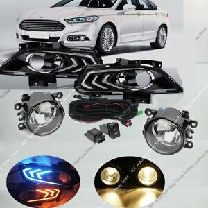 LED Daytime Running Lights & Fog Lights Kit k For Ford Fusion Mondeo 2013-2016