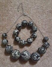 Snakeskin Patterned Necklace & Bracelet Good Quality Debenhams