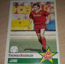 CARD SCORE 1992 ROMA HAESSLER CALCIO FOOTBALL SOCCER ALBUM