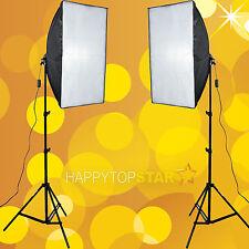 2PCS 50x70cm Soft Box Flash Slave Flash/Bulb Softbox +2 Light Stand Photo Studio