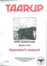 TAARUP KIDD SIDEFLINGER MANURE SPREADER - MODEL 650 OPERATORS MANUAL