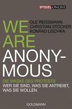 We are Anonymus Ole Reissmann   Taschenbuch ++Ungelesen++