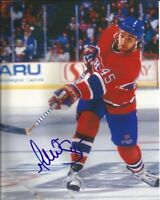 GILBERT DIONNE signed 8x10 photo MONTREAL CANADIENS