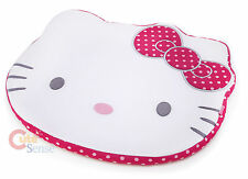 Sanrio Hello Kitty Face Cut Chair Cushion with Pink Polka Dots - Licensed