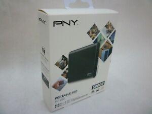 NEW IN SEALED BOX PNY 500GB PORTABLE SSD EXTERNAL HARD DRIVE BACKUP DEVICE PRO E
