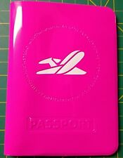 Canadian Canada Silicone Passport Cover Holder Protector Sleeve - Hot Pink