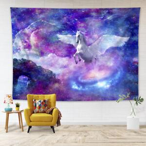Unicorn Galaxy Stars Universe Tapestry Wall Hanging Living Room Bedroom Dorm LB