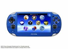 USED PS Playstation vita Wi-Fi model SAPPHIRE BLUE PCH-1000 ZA04 only console