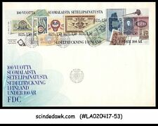 FINLAND - 1985 100yrs of Finnish Banknote Printing Works - Min/sht - FDC