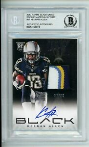 2013 Panini Black Onyx Signed Keenan Allen Rookie Materials Patch Auto /99 BAS
