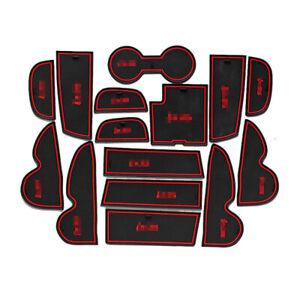 For Hyundai IX35 13-15 Car interior Anti-Slip Mat Auto Cup Holder Gate Slot Pad