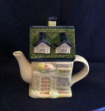 2000 Houston Harvest Collector Series Teapot Florist Shop Ceramic Euc