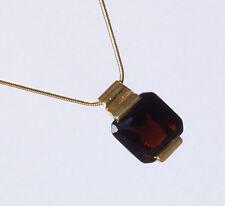 Elegante Trend Kette gold plated Glas Stein Topaz Princess * Neu und modern