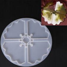 4 Achat Untersetzer Harz Gießen Form Silikon Schmuck machen Epoxid Form Handwerk