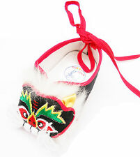New Complete hand-made Chinese baby tiger shoes for 6-12 mon., black