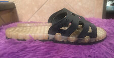 Sensi Regatta Ice Sandals Black/Clear Made In Italy Women's 11-12 Unisex (44-45)