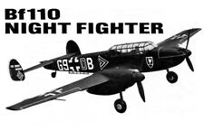 "Model Airplane Plans (UC): Bf110 40"" 1/12 Scale .14-.29s Engines (Musciano)"