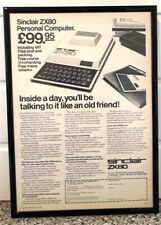 Framed original Classic Computer Ad for Sinclair ZX80 from 1981