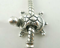 20 älter Silber European Schildkröte Perlen Beads
