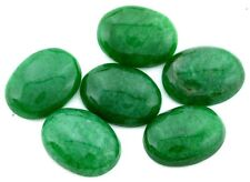 Two 20x15 Oval Green Jade Cab Cabochon Gem Stone Gemstone 20mm x 15mm cm71