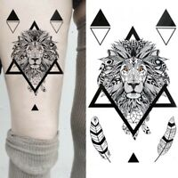 Temporäres Tattoo Löwe Federn Design Temporary Klebetattoo Körperkunst lion