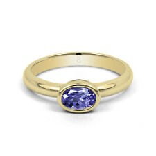 Tanzanite Solitaire Yellow Gold 18 Carat Fine Rings