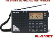 TECSUN PL310ET,FM/MW(AM)/LW/SW PLL DSP World Band Portable Stereo Radio with ETM