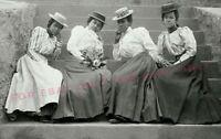 Vintage Old 1910s Photo reprint of African American Black Edwardian era Women