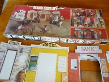 RARE MARX READY GANG ACTION TOWN SET - WESTERN TOWN 1977