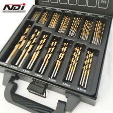NEW 99PC METRIC TITANIUM DRILL BIT SET IN METAL CASE ND-1001