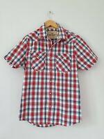 Mens Shirt Size L Red Hollister <FF1539z