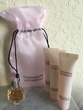 FLOWERBOMB Viktor & Rolf 5 Piece Perfume-Lotion-Cream-Shower & bag MINI GIFT SET