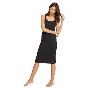 Volcom Women's Lil Dress Relaxed Fit Basics, Black, Small