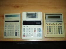 Escritorio Antiguo Trabajo Lote 3 Retro calculadoras. todas las piezas Futuro. en Funcionamiento