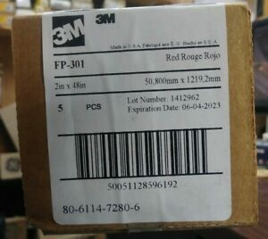 """3M FP-301 RED HEAT SHRINK TUBES 2"""" x 48"""" NEW BOX OF 5 TUBES"""