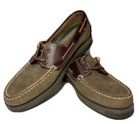 Men's Duck Head Boat Shoes Brown Suede & Leather Size 8M 511240