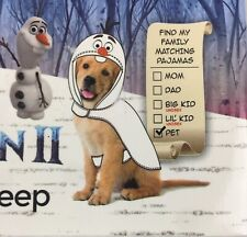 Olaf Pet Pajamas Frozen 2 Large Dog 35-65 Lbs Family Sleep New Briefly Stated