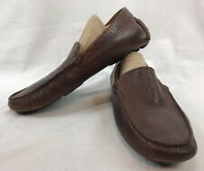 ALFANI MENS BROWN CHESTER SLIP ON DRIVING LEATHER UPPER DRESS SHOES SIZE 8 M