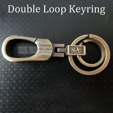 Double Loop Copper Hanging Keychain Keyring Hook Key Fob Gift