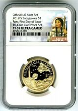 2019 S $1 SACAGAWEA PROOF NGC PF69 UCAM FIRST DAY ISSUE DOLLAR PORTRAIT LABEL