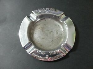 W. WITTING , ELECTRO PLATERS , HULL - ADVERTISING CHROME ASHTRAY