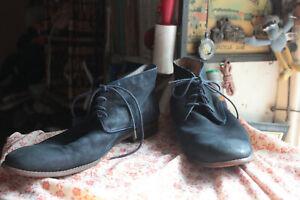 FLORSHEIM Blue Leather Lace-up Shoes Size 46 EE UK 11